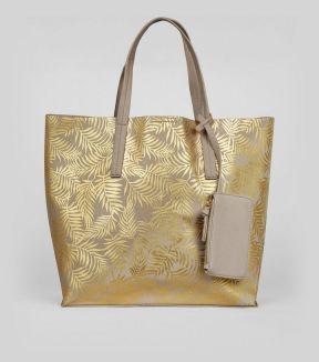 gold-metallic-palm-print-shopper-bag