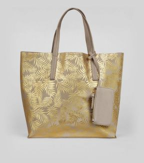 gold-metallic-palm-print-shopper-bag