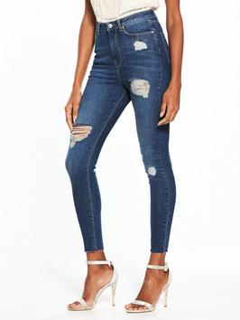 http://www.littlewoodsireland.ie/v-by-very-ella-high-waist-ripped-skinny-jean-dark-wash/1600179055.prd