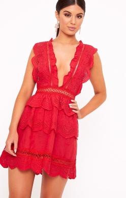 https://www.prettylittlething.com/red-crochet-lace-plunge-swing-dress.html