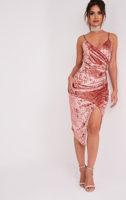 https://www.prettylittlething.com/prina-pink-crushed-velvet-strappy-wrap-over-midi-dress.html
