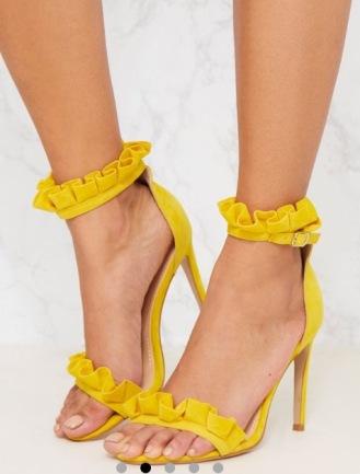 https://www.prettylittlething.com/bright-yellow-frill-strap-heels.html