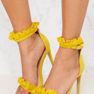 https://www.prettylittlething.com/bright-yellow-frill-strap-heels.html