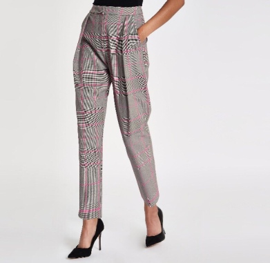 https://www.riverisland.ie/p/pink-check-tapered-trousers-725694