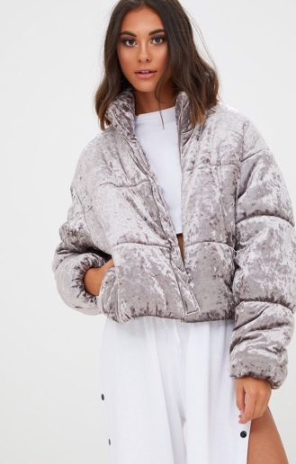 https://ie.prettylittlething.com/grey-velvet-cropped-puffer-coat.html